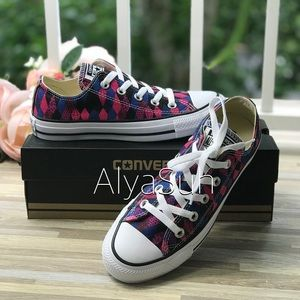 Converse Ctas OX Multi Print Blue/Pink W AUTHENTIC